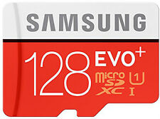 Samsung EVO+ Plus 128 GB microSDXC Card SD With Adapter  Micro Sd 128GB