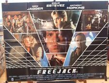 Mick Jagger  Emilio Estevez FREEJACK (1992) Original UK quad movie poster