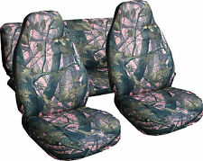 Jeep Wrangler TJ Seat Covers & Tire Cover in Camo Pink Real Tree or Choose color