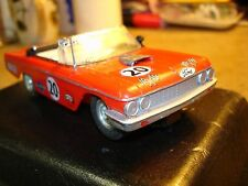 Vintage Eldon Strombecker muscle car Ford Coupe convertible 1/32 Slot Car.