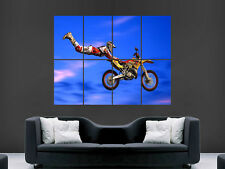 MOTOCROSS JUMP HUGE LARGE WALL ART POSTER PICTURE