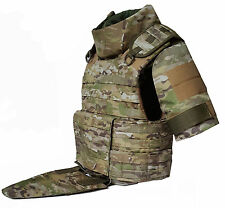 Body armor plate carrier vest MOLLE waterproff Kevlar incl Multicam