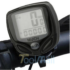 Wireless LCD Digital Cycle Computer Bicycle Bike Speedometer Odometer Waterproof