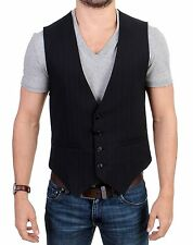 NWT $360 COSTUME NATIONAL C'N'C Black Striped Cotton Casual Vest IT48 / US38 / M
