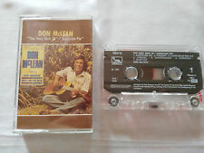 DON McLEAN THE VERY BEST OF AMERICAN PIE CASSETTE TAPE CINTA 1989 LIBERTY
