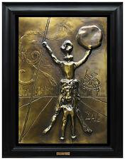 SALVADOR DALI Bronze SCULPTURE Signed Surreal Artwork Rare Don Quixote Authentic