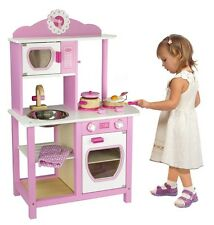 Viga Pink Wooden Princess Kitchen - Kids/Children's Toy - Top Christmas Seller!