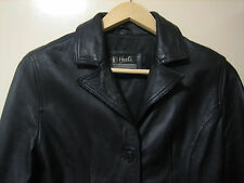A 100% GENUINE HEELI EXCLUSIVE COLLECTION BLACK LEATHER JACKET SIZE MEDIUM