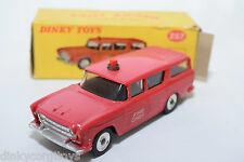 P DINKY TOYS 257 NASH RAMBLER FIRE CHIEF'S CAR VN MINT BOXED RARE SELTEN RARO