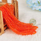 1500 PCS Lot Orange Crystal Faceted Loose Beads Rondelle Jewelry Making DIY 4mm