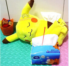 Pokemon go Sleeping Pikachu Plush Tissue Box Paper Towels Pumping Storage Bag