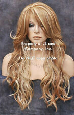 LATEST STYLE HEAT SAFE WAVY Long Strawberry BLONDE MIX WIG WBCA 27-613