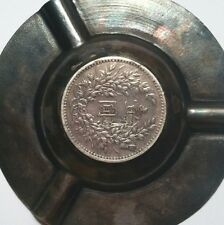 1914 China Yuan-Shih Kai Silver Dollar Coin & Sterling Silver Ashtray, Bowl Dish