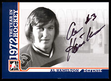 ITG 1972 THE YEAR IN HOCKEY WHA AUTO AUTOGRAPH SIGN AL HAMILTON EDMONTON OILERS