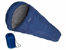LARGE - MUMMY SHAPE WARM SINGLE SLEEPING BAG FOR CAMPING CARAVAN AND TRAVEL BAG