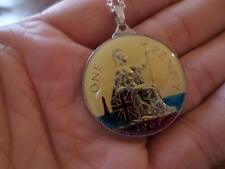 Moneda De Un Centavo Vintage 1967 Collar Colgante Esmaltado 50TH cumpleaños regalo de Navidad