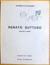 RENATO GUTTUSO CATALOGO FIRMATO CON ANNULLO POSTALE SAN MARINO 1979 RARO