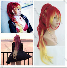 Cosplay Wigs Blue Exorcist Shura Kirigakure Long Red Yellow Anime Hair