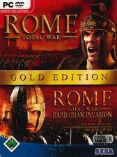 Rome Total War oro incl. Addon Barbarian invasión alemán muy buen estado