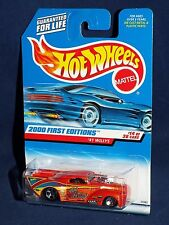 Hot Wheels 2000 First Editions #14 '41 Willys Wild Willy Drag Orange w/ 5SPs