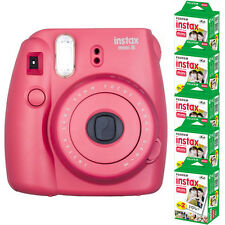 Fujifilm instax mini 8 Raspberry Red Instant Film Camera + 100 Mini Prints