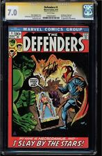 DEFENDERS #1 CGC 7.0 WHITE PAGES SS STAN LEE DR STRANGE  BEGINS  CGC #1206503003