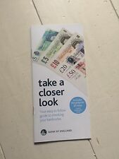 "Bank Of England Booklet ""Take A Closer Look"" -( Includes 5 Pound Polymer Note)"