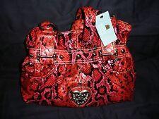 Vintage Kathy Van Zeeland Purse Medusa Belt Shopper Fuchsia Snake H41505 (NWT)