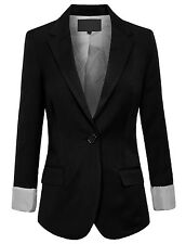 Womens Office Classic One Button Boyfriend Casual 12Color Blazer Jacket [NEWJ26]
