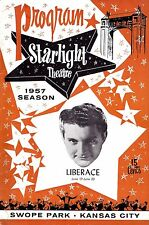 LIBERACE Live in Concert (Behind the Candelabra) 1957 Kansas City Playbill
