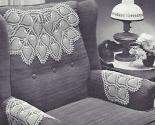 Vintage Crochet PATTERN to make Pineapple Doily Chair Set Mat PineappleChairSet