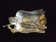 """Rare Mariposa Brillante Christmas Angel with Horn Platter Serving Tray 25x13"""""""