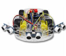 ROBOT ESQUIVA OBJETOS 3 HC-SR04 4WD rueda chasis robotics Para ARDUINO Raspberry