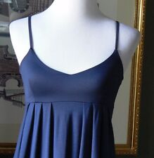 GAP Navy Blue Jersey Stretch Knit Empire Dress Silky Bodice XS