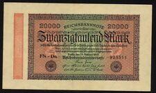 Deutsches Reich Banknote 84j 20000 Mark 1923