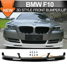 2010-2013 BMW F10 5 Series 3D Style Front Bumper Lip Unpainted -PU Poly Urethane
