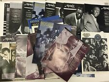 MOSAIC JAZZ MAGAZINE LP RECORDS JOURNALS RARE 25+ LOT INC EARLY ISSUES
