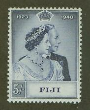 FIJI #140 MINT, VF, NH SILVER WEDDING ISSUE HIGH VALUE TO THE SET 5/-