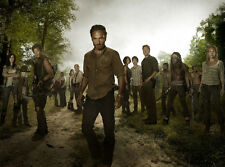 "The Walking Dead 1 2 3 4  TV Zombie Fabric poster 17"" x 13"" Decor 65"