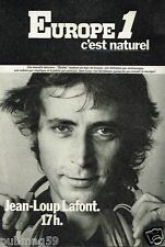 Publicité advertising 1977 Radio Europe 1 avec Jean-Loup Lafont