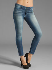 NEW WOMEN SIWY HANNAH SLIM CROP BLUE DENIM JEANS IN UNSHAKEABLE WASH SIZE 25