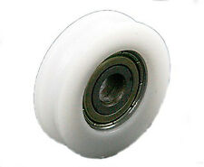 4x 8*30*10mm 608zz U Groove Guide Pulley Sealed Rail Ball Bearing Nylon Embedded