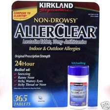 AllerClear Non-Drowsy Allergies 24 HR (365ct) Kirkland Generic Claritin Exp 2018