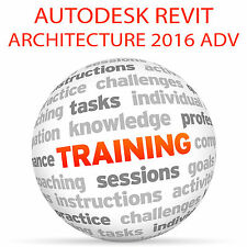 Autodesk Revit Architecture 2016 Advanced-Video Tutorial DVD de entrenamiento