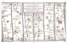 Antique map, The Road from London to Barwick, beginning at York plate 008