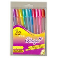 10 x Sakura GLAZE 3D Effect Gelly Roll Gel Pen 10 Vibrant COLOUR - Made in Japan