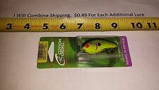 "COTTON CORDELL Big O Lure 2-1/4"" fishing lure NEW Bleeding chartreuse shad"