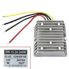 New Waterproof 12V to 24V DC-DC Step Up Power Supply Converter 10A 240W Sales