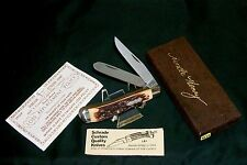 "Schrade 285UH Knife Pro Trapper Old Timer 3-7/8"" USA Made W/Packaging & Papers"