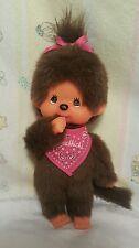 Vintage Monchichi Monchhichi Girl Monkey Bib  Sekiguchi